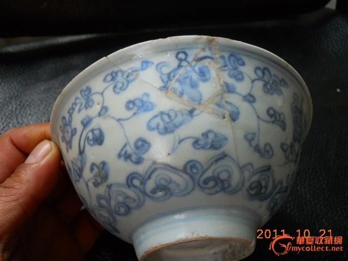 大明正德青花缠枝花纹碗图片