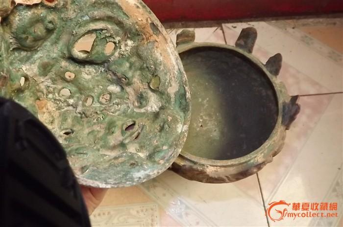 出土的青铜莲花铜熏炉
