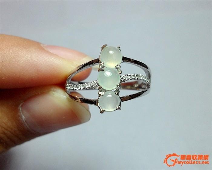 缅甸A货翡翠老坑冰玻种完美起荧奢华群镶高档戒指