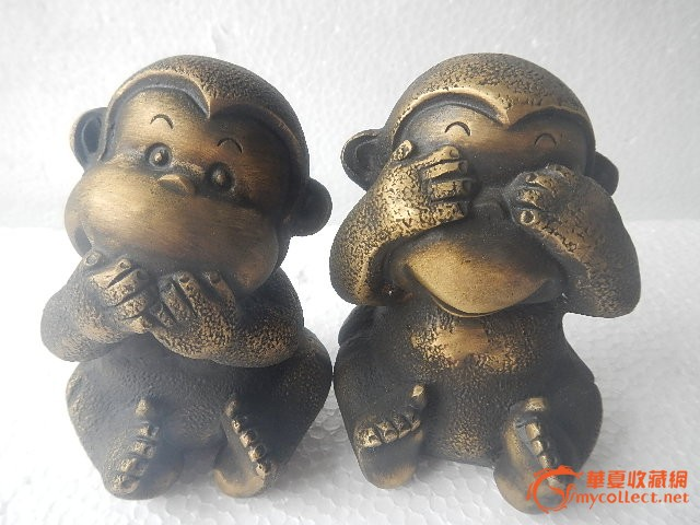 不说猴图片大全_钻石快线黄金转运珠三不猴系列不说猴黄金手