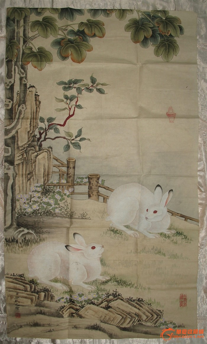宣纸手绘【玉兔】
