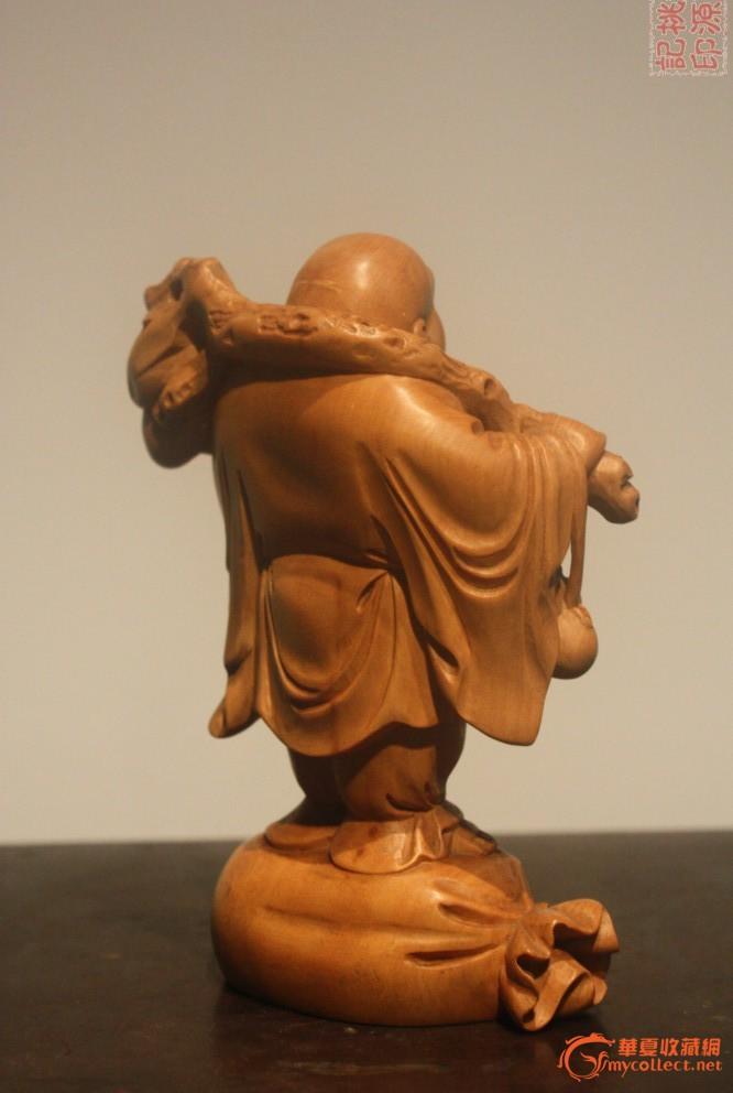 no192:黄杨木雕布袋和尚