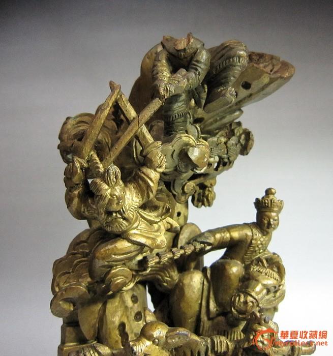 处理,民国,三打白骨精 西游记题材 木雕摆件 处理价1800