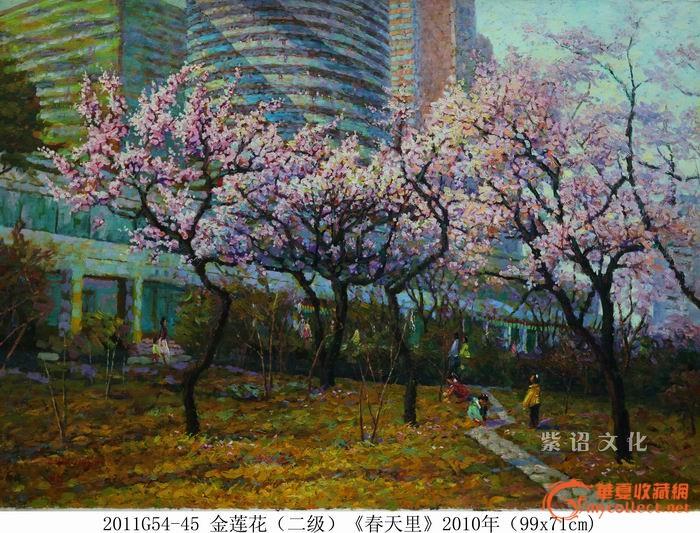朝鲜名人油画(春天里)