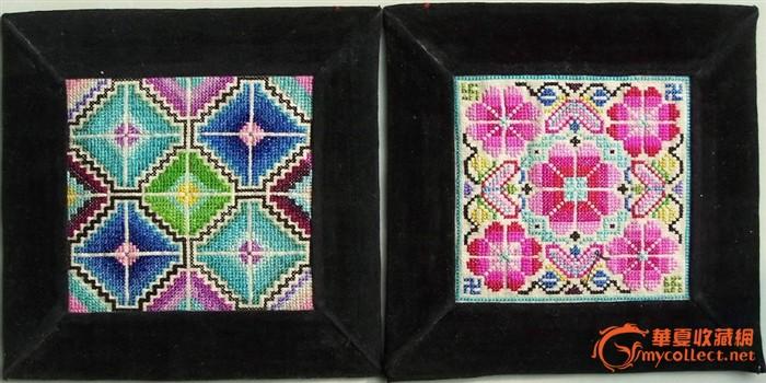 老纳纱十字绣 刺绣枕头顶 11图片