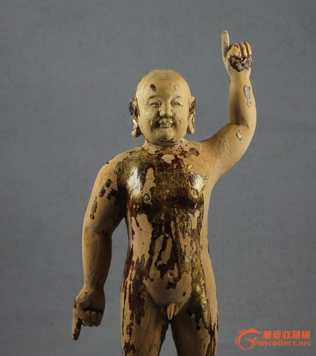 清代木雕 释迦牟尼诞生像