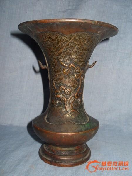 铜器 其它 清晚期浮雕梅花纹铜香筒