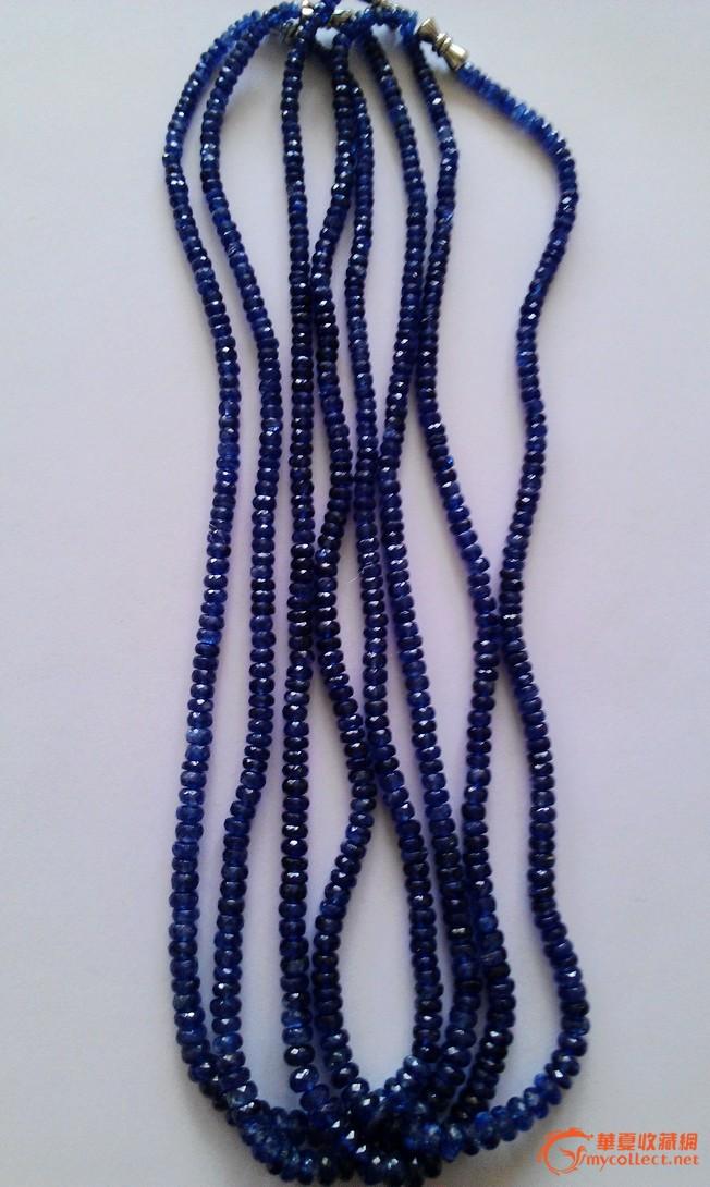 蓝宝石刻面项链