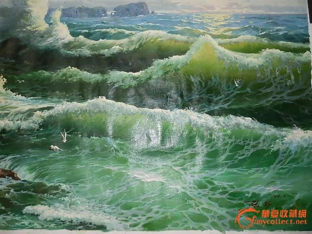 朝鲜油画山水