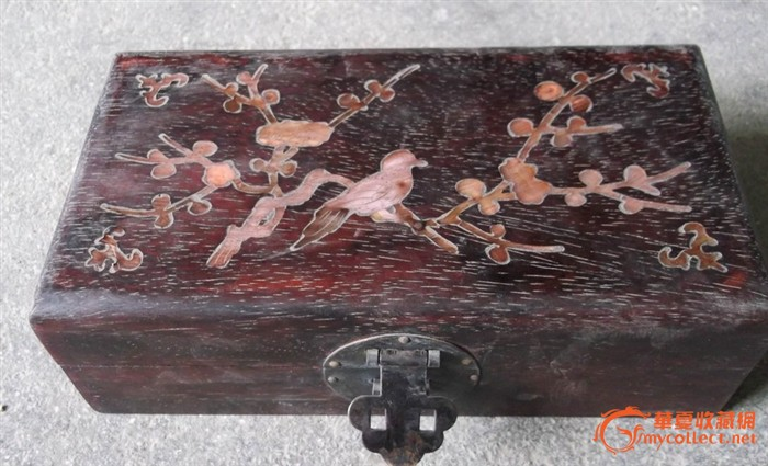 清代老紫檀木 首饰盒