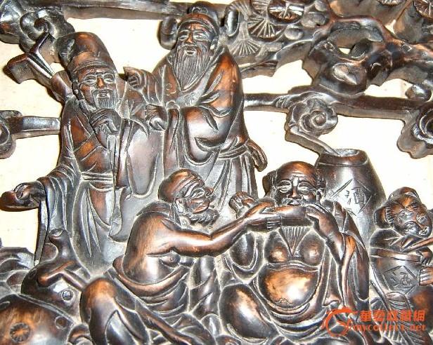 八仙过海木雕; 清代八仙过海木雕出售;    清代黄杨木雕八仙过海木雕
