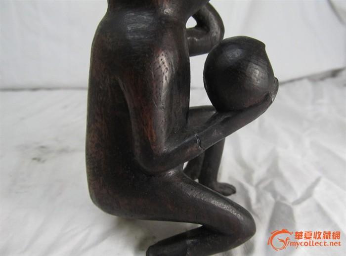 精巧可爱的木雕小猴子/猴子献桃/灵猴祝寿