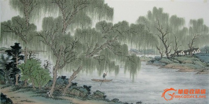 Image result for 国画柳