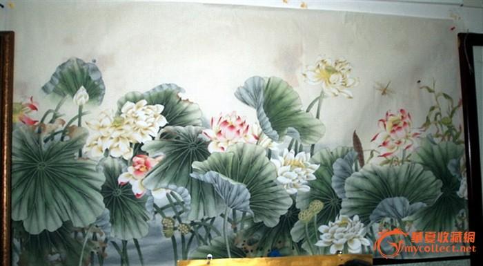 巨幅工笔画·《荷塘清趣图》