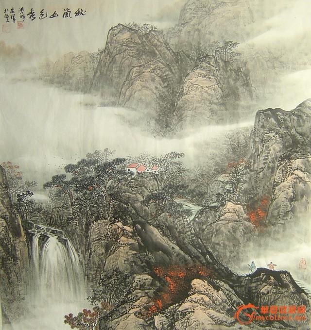 斗方风景油画作品欣赏
