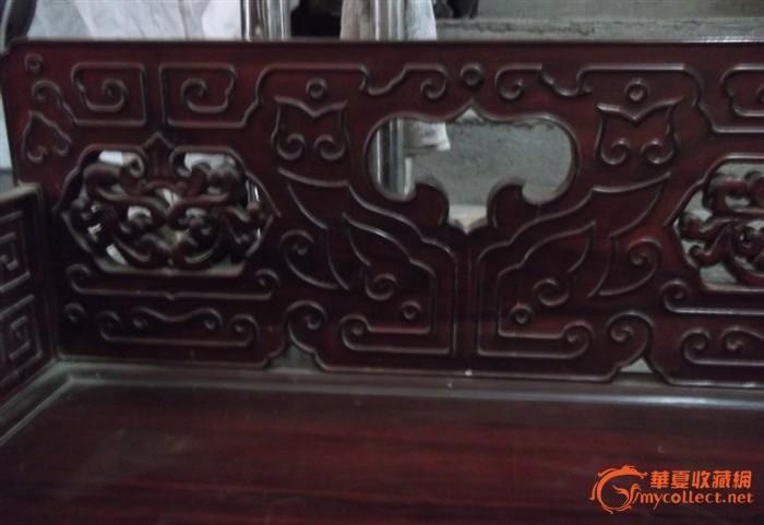 紫檀木老 宝座 雕刻精品
