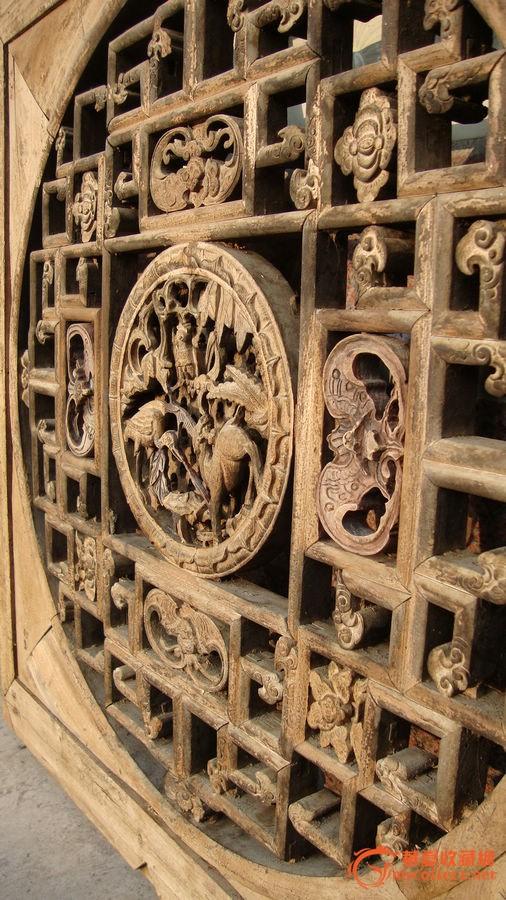清代-木雕镂空窗子