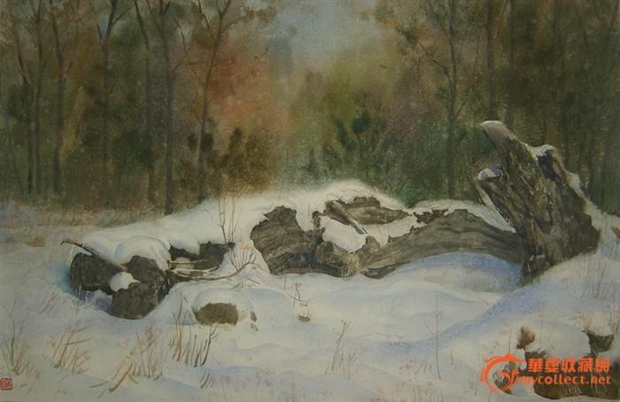 白焕军水彩画---雪景系列之一