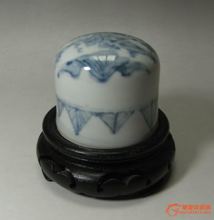 鼓型笔洗 湖南株洲市雷打石瓷厂64年出 细路牡丹冬瓜罐一对瓷质画工一