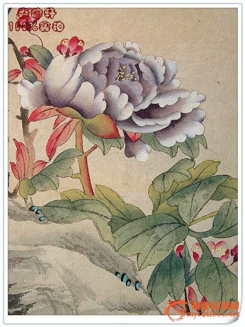 ◢焱煌轩◣清画家蒋廷锡工笔富贵白头图画芯