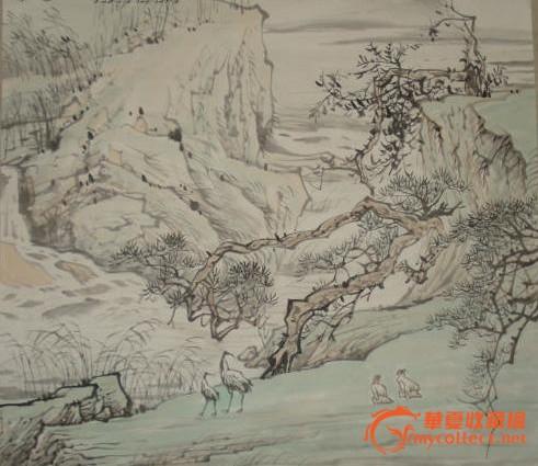 玉圃团_当代著名山水画家 陈玉圃 山水画