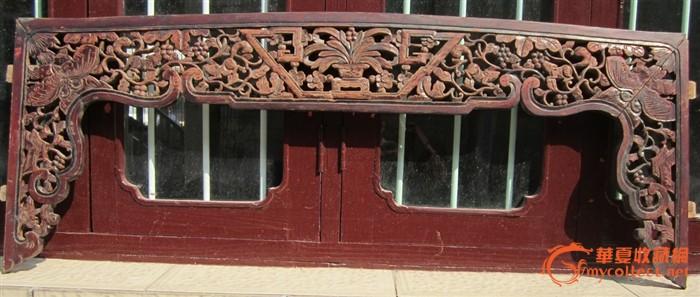 雕花小花板木艺木雕,床楣,床眉53号