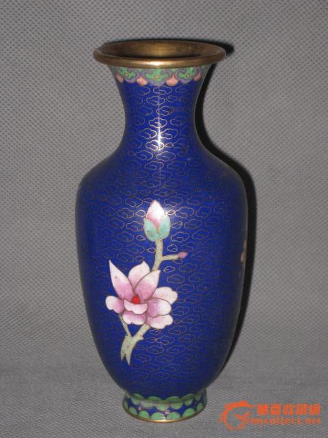 景泰蓝梅花花瓶