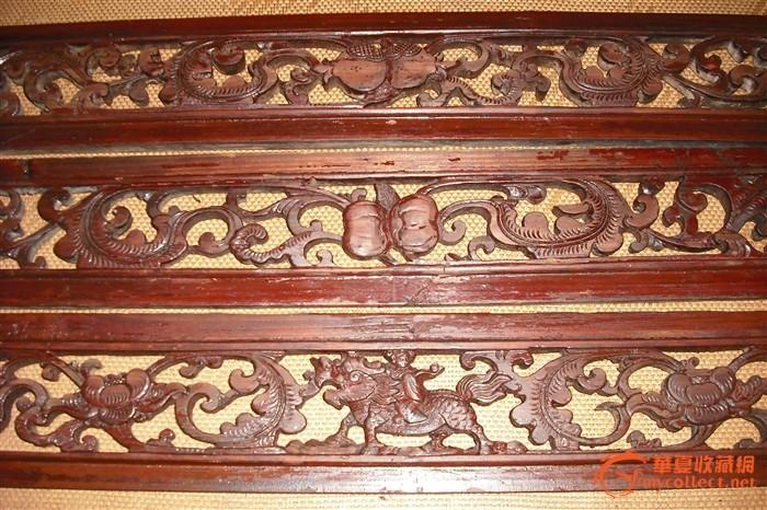 1套3片精雕麒麟,石榴,南瓜老花板