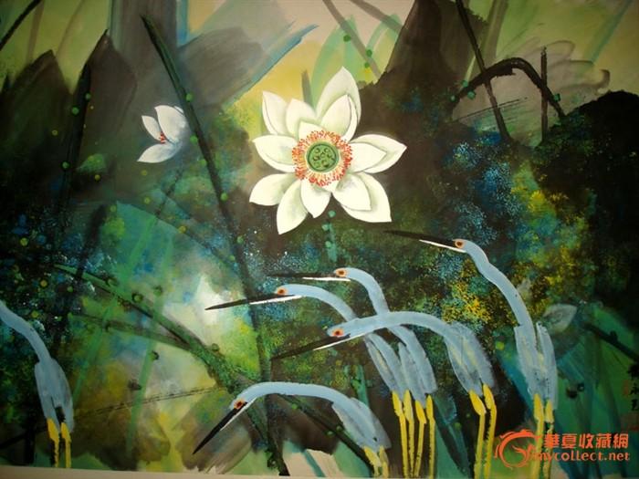 六年级荷花美术画画图片