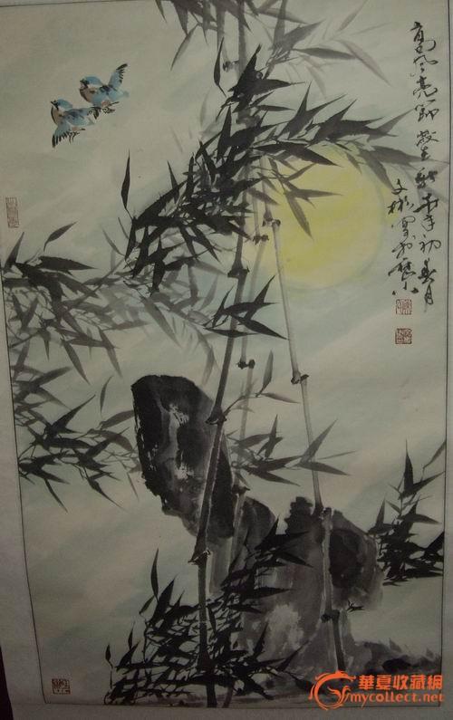 纹身竹子手稿素材