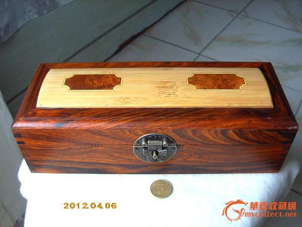 全卯榫红酸枝(老红木)镶竹镶瘿木精美首饰盒*百宝箱!