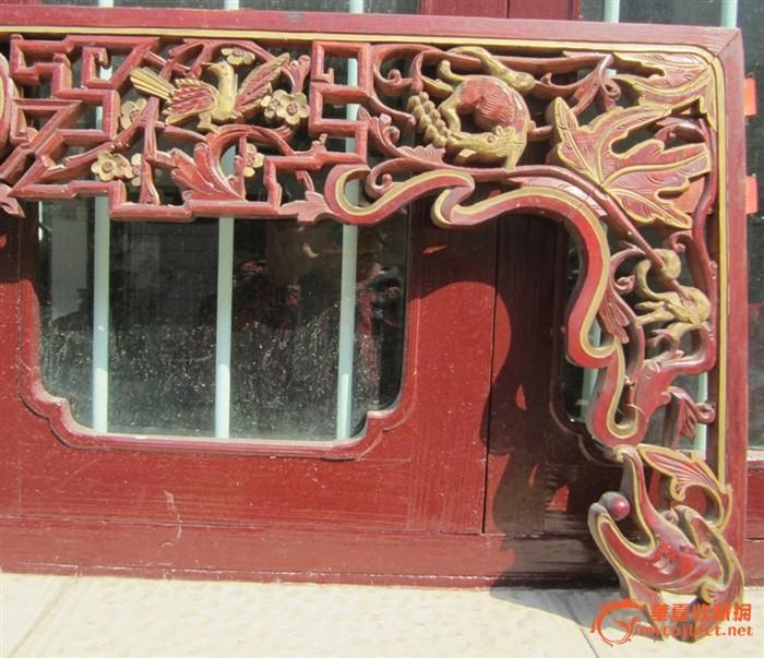 雕花小花板木艺木雕,床楣,床眉60号