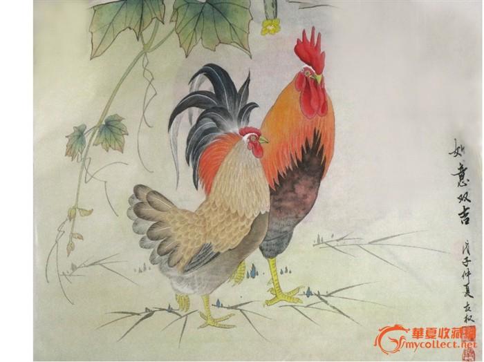 永权 十二生肖工笔画之鸡系列