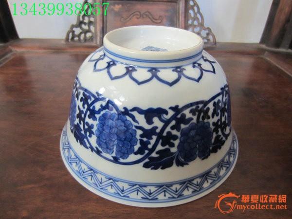 大清光緒年官窯青花瓷大瓷碗一個