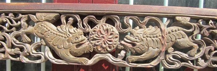 雕花小花板木艺木雕,床楣,床眉61号