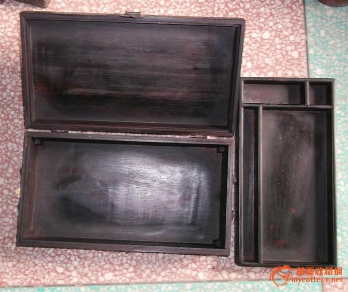 紫檀木 雕刻首饰盒