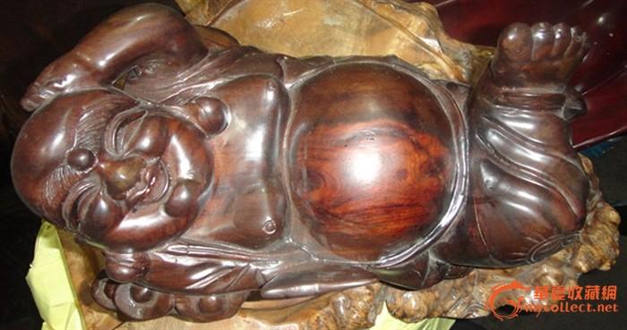 弥勒佛木雕摆件_弥勒佛木雕摆件价格_弥勒佛木雕摆件