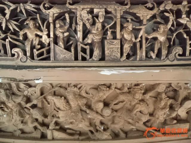 木雕花板长条