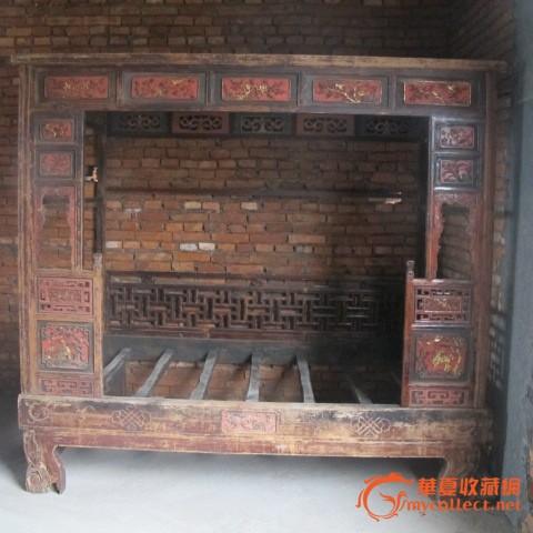 明代木雕床