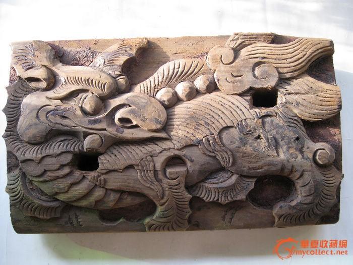 木雕麒麟匾托