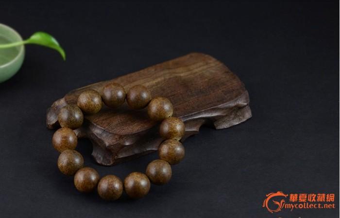 越南虎斑奇楠沉香木手串/18mm13颗/手链/味道醇厚,油性极佳精品