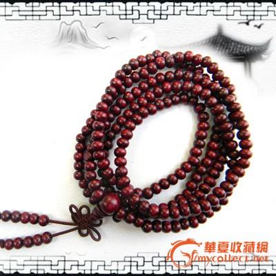 小叶紫檀 佛珠手链 手串 念珠 红檀香木 手链