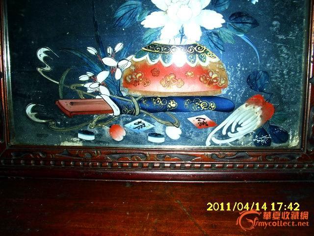 清代手绘镜子-图2