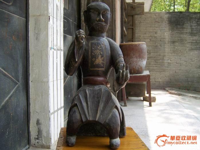 清代木雕神像-图1