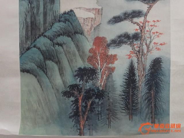 张大千 青绿山水图片