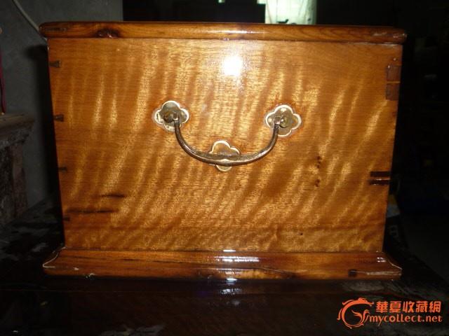 极品金丝楠木梳妆箱子14---满波纹
