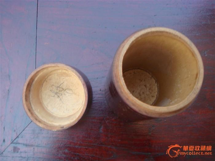大漆竹子茶叶桶