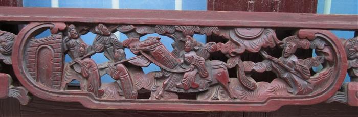 老式雕花花板木艺木雕,床楣床眉83号