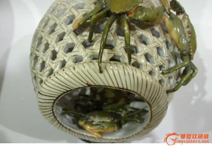 巧夺天工的瓷虾蟹笼
