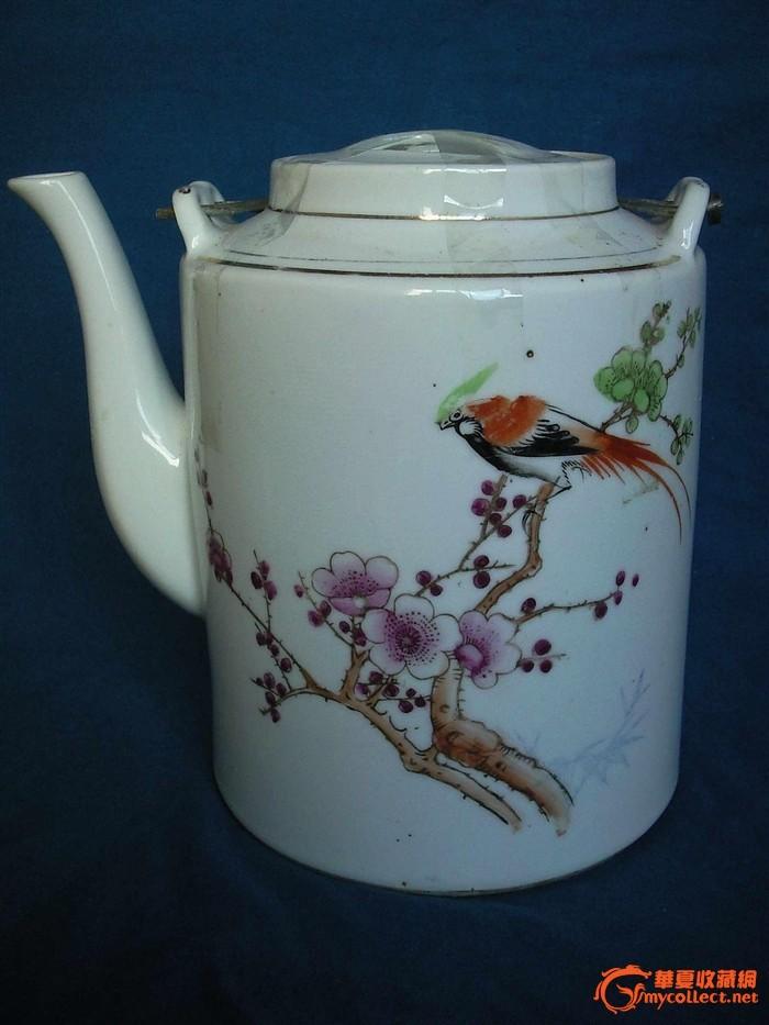 低价处理民国花鸟茶壶和茶杯